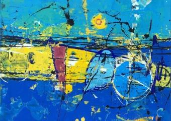 """Inmersión"" acrylic/canvas, 26 x 30 in. (66 x 76 cm.) 2019"