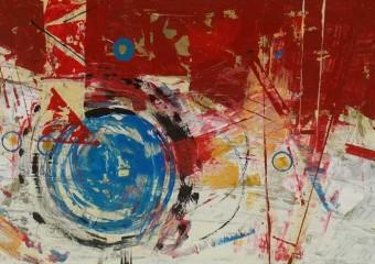 """""""Vertigo"""", acrylic /canvas,  21 x  35 in. ( 54 x 90 cm ) 2019"""