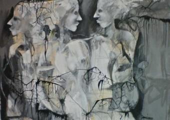 """Moon Dance"", acrylic/canvas, 51 x 60 in. (129.5 x 152.4 cm.) 2014"