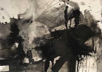 """DEMONS INKpirations"" Series, ink/paper. 22 x 30 in. ( 55.8 x 76 cm. ) 2018"