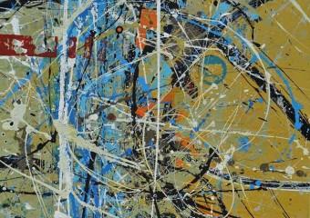 """Paisaje Interior"", acrylic /canvas, 31.5 x  27.5 in. ( 80 x 70 cm ) 2018"
