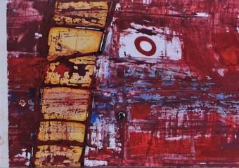 """Sentires I"", acrylic /canvas, 29 x  55 in. ( 73 x 140 cm ) 2016"
