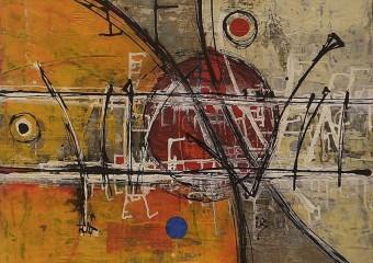 """""""Tabu"""", acrylic /canvas,  27.5 x 31.5 in. ( 70 x 80 cm ) 2017"""