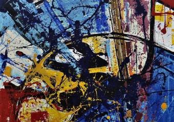 """Totalidad"", acrylic /canvas, 38 x  36 in. ( 96 x 91 cm ) 2017"