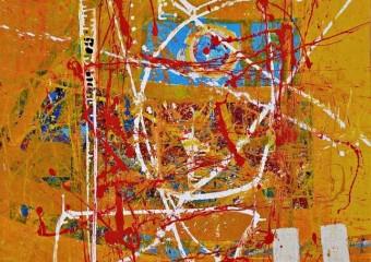"""""""Vida mia"""", acrylic /canvas, 52  x  41.7  in. ( 133 x 106 cm ) 2018"""