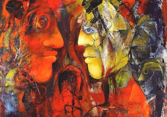 """Glory and Madness"", acrylic/canvas, 64 x 56 in. (162.5 x 142.2 cm.) 2004"